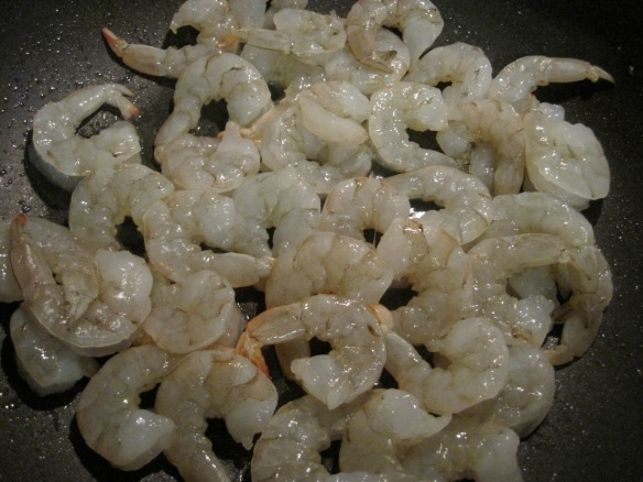 cooking shrimp