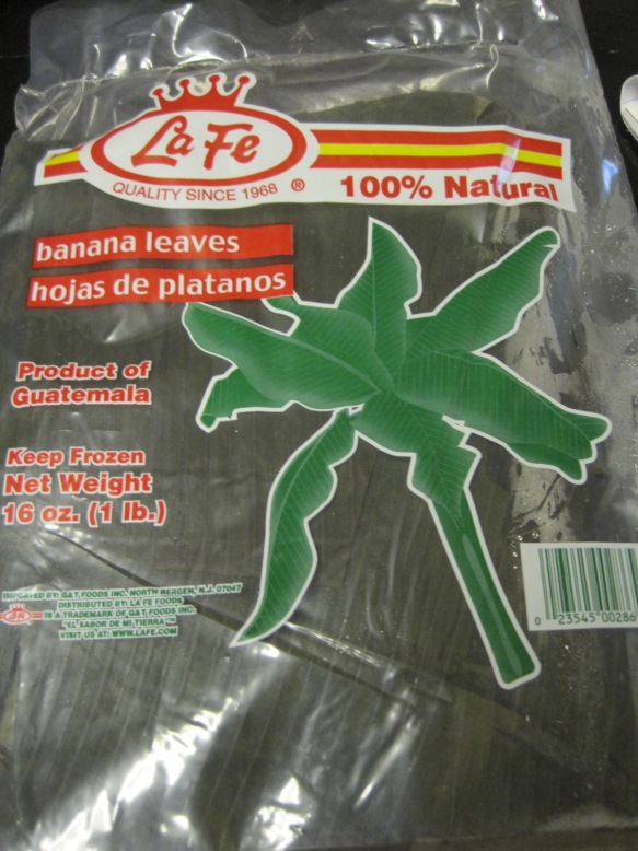 banana leaves packaged