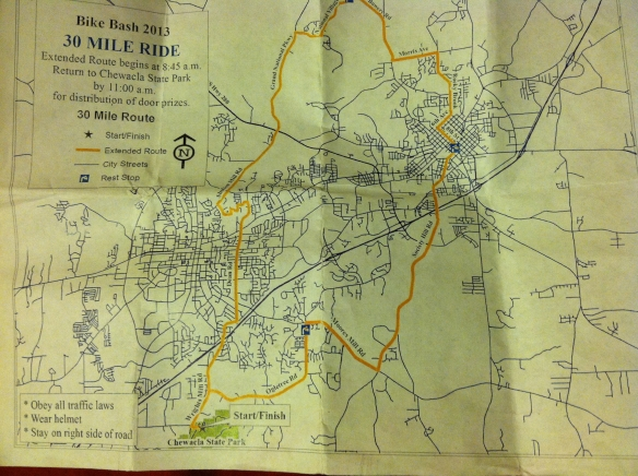 Bike Bash 30 Mile Route