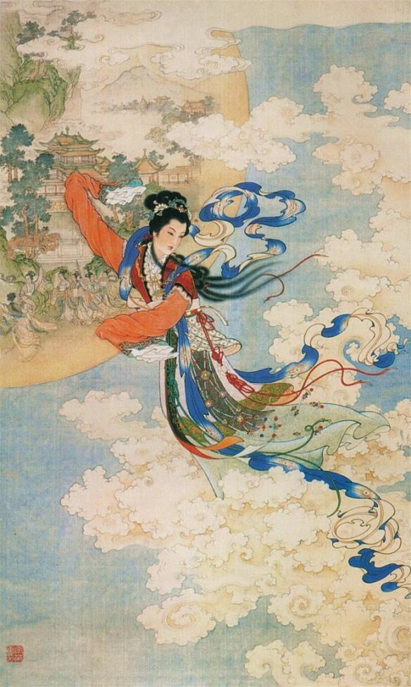 Chang'e_Flying_to_the_Moon_(Ren_Shuai_Ying)